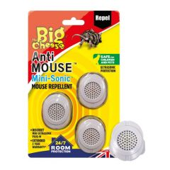 The Big Cheese Anti Mouse™ Mini-Sonic Mouse Repellents - 3 Pack