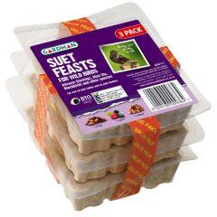 Gardman Suet Feast 3 Pack