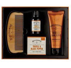 Thistle Men Face/Beard Care Kit - Scottish Fine Soaps