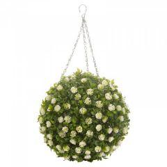 Topiary White Rose Ball