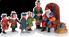 Lemax Visiting Santa - Set of 3