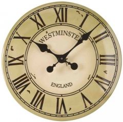 "Westminster Wall Clock Cream 12"" - Smart Solar"