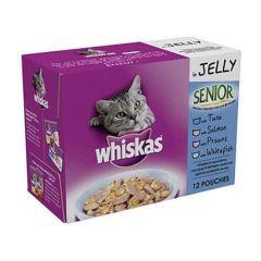 Whiskas Senior Fish in Jelly 12 Pack