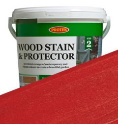 Protek Wood Stain and Protector - Fire Engine Red - 1L