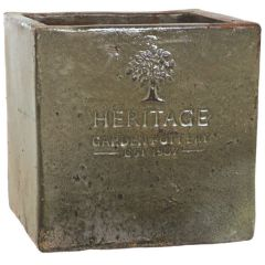 Woodlodge 37cm Rustic Heritage Cube Pot