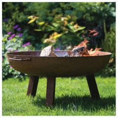 Woodlodge Glasto Fire Pit with Legs 75cm