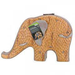 Wood Stone In-Lit Elephant