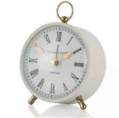 """Thomas Kent Wren Alarm Mantel Clock Smoke 4"""""""