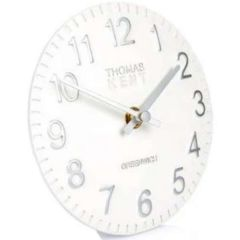 Thomas Kent Cotswold Mantel Clock Snowberry White 6""