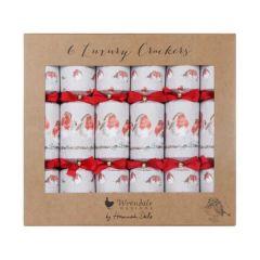 Wrendale Christmas Crackers Robin Set 6 Pack