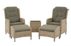 Blenheim Recliner Set with 2 Footstools & High Coffee Table - Bramblecrest