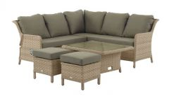 Blenheim Mini Modular Sofa Set With Adjustable Dining Table & 2 Stools