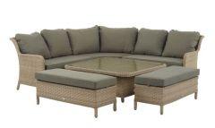 Blenheim Reclining Modular Sofa Set W Square Adj Table & 2 Benches