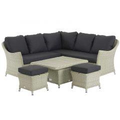 Chatsworth Modular Sofa Set With Mini Adjustable Ceramic Table & 2 Stools