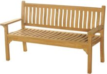 Bramblecrest Curved Back Flat Arm 3 Seat Bench