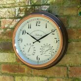 "Astbury Wall Clock & Thermometer 12"""