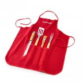 Barbecook Apron with 4 Piece Tool Set