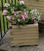 Hutton Wooden Square Planter - 40cm