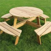 Zest4Leisure Poppy Round Picnic Table