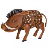 Solar Powered Metal Silhouette Warthog - Smart Solar