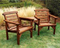 Woodshaw Thornton Rustic Alcove Seat