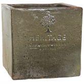 Woodlodge 37cm Rustic Heritage Cube Pot
