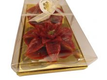 Wax Poinsettia Candle Red - 11.5X5CM