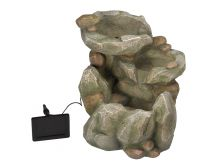 Smart Solar Rock Fall Fountain
