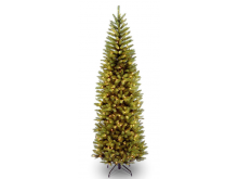 National Tree 7.5ft Kingswood Fir Pencil Pre-lit Tree