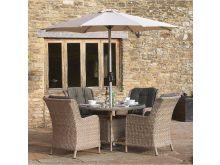 Blenheim 4 Seater Round Table Set - Bramblecrest