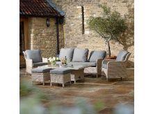 Blenheim Reclining 3 Seat Sofa Set with Table - Bramblecrest