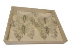 Feather Butterfly - Pearl White - 8X6CM