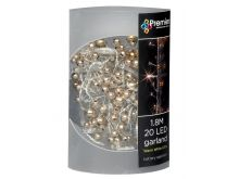 Copper and Gold Beaded Garland - 20 Warm White LEDs - 1.8M