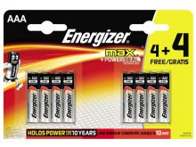 Energizer Max AAA Battery - 4+4 Pack
