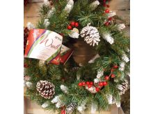 Frosted Berry Wreath 20""