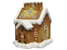 Wax Candle Gingerbread House - 8X10CM