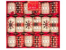 Mini Luxury Christmas Crackers - Snowflakes & Reindeers - 6 Pack