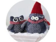 Owl With Red Hat - 39CM