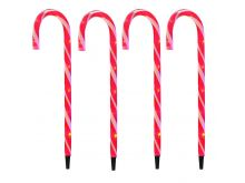 Candy Cane LED Path Lights - Red - 4 Pack