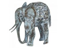 Solar Powered Metal Silhouette Elephant - Smart Solar