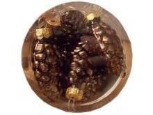 Shatterproof Pinecone Decorations - Dark Chocolate - 2.5X6CM - 12PK