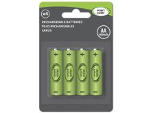 Smart Solar - Rechargeable Batteries - AA - 4 Pack