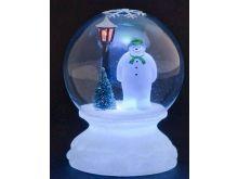 Lamp Lit Snowman Globe with Multi-Colour LED's