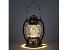 The Snowman Water Globe Lantern With Warm White LED's & Motion Function