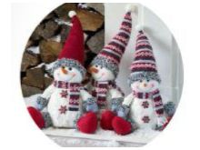 Snowman With Red Hat - 55CM
