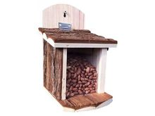 Natural Bark Squirrel Feeder - Green Key