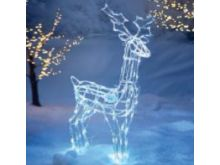 Acrylic Standing Reindeer With 160 White LED's - 1M