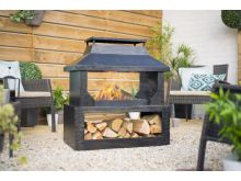 La Hacienda Stonehurst Fireplace