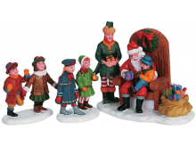 Lemax Visiting Santa - Set of 3