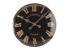 "Westminster Wall Clock Black 12"" - Smart Solar"